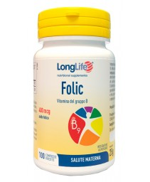 Longlife Folic 400mcg 100cpr